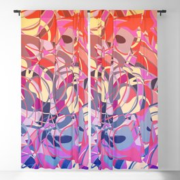 Summer Sunset Abstract - Purples and Reds Blackout Curtain