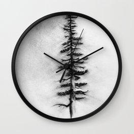 Pine in the Moonlight Wall Clock