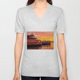 Ferry Boat John F. Kennedy Unisex V-Neck