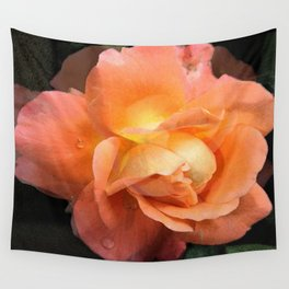Rose With Dew Abstract Wall Tapestry