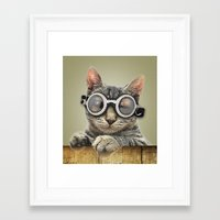 harley Framed Art Prints featuring Harley by Vin Zzep