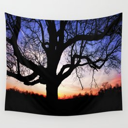Darkness Against Sunset Wall Tapestry