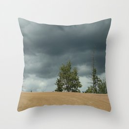 On the road in Rocky Mountains Throw Pillow