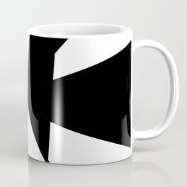oblique clock- clock,fun,black,red,white,psychedelic,crazy,relativity,abstraction Coffee Mug