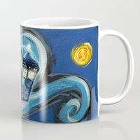 targaryen Mugs featuring Tardis Starry Night by DavinciArt