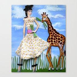 The African Safari Illustration By James Thomas Ryan Canvas Print
