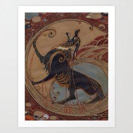 Chained Fenrir Art Print