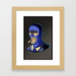 Blue Spy! Framed Art Print