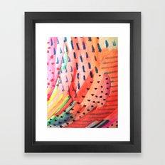 Fun Lovin - a bright watercolor piece Framed Art Print