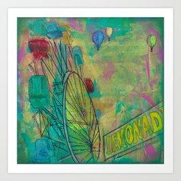 Ferris Wheel County Fair fun  Art Print