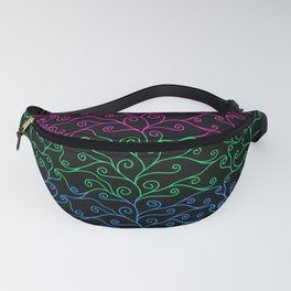 Swirls and Silk - Polysexual Flag Fanny Pack