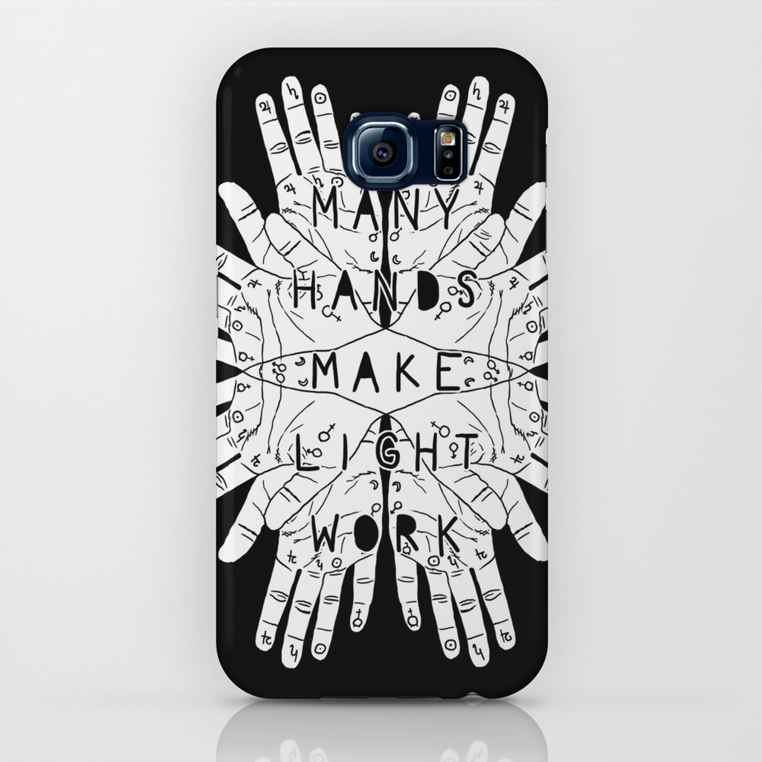 competitive price 201f9 29f4d Many hands make light work (inverted) iPhone Case