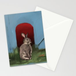 In a Strange Pasture He Finds His Beloved Stationery Cards