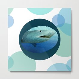 Shark Circles Metal Print