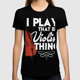 Double bass violin bass player musical instrument T-shirt