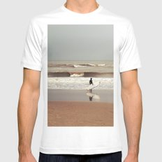 The surfer White MEDIUM Mens Fitted Tee