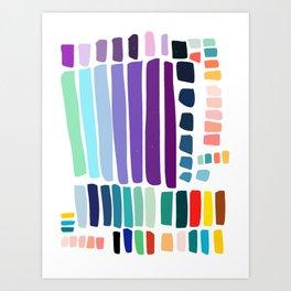 Colorful and Joyful Palette Pattern Art Decoration Art Print
