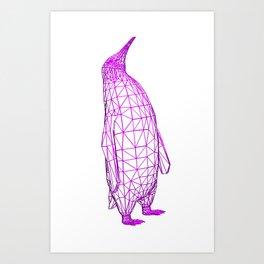 Wire Penguin Art Print