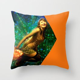 Galaxy Toot Girl | Sexy Pin Up Humor Throw Pillow