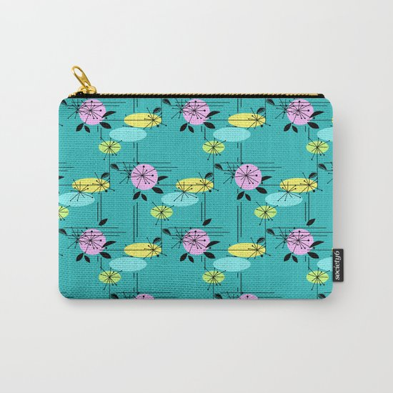 Retro . Turquoise . Carry-All Pouch