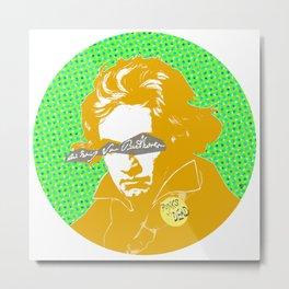 Ludwig van Beethoven 16 Metal Print