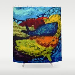 African American Masterpiece 'Untitled' by Ellis Wilson Shower Curtain
