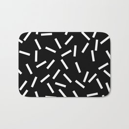 Sprinkles Black Bath Mat