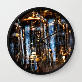 Play Of Light Of Wineglasses Wall Clock