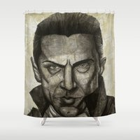 dracula Shower Curtains featuring Dracula by Colunga-Art