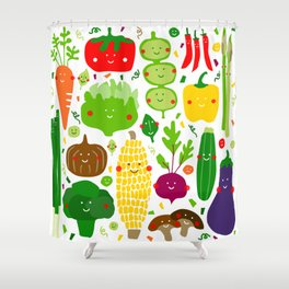 Eat your greens! Shower Curtain