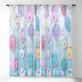 Love Locks Sheer Curtain