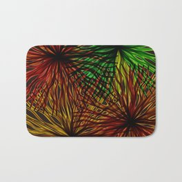 Anemones Aflame Abstract Marine Life Bath Mat