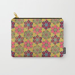 Origami Flower - mustard Carry-All Pouch