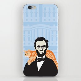 Abe Lincoln the first president to bring a cat to the White House iPhone Skin