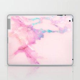 Pink Iridescent Vein Marble Laptop & iPad Skin