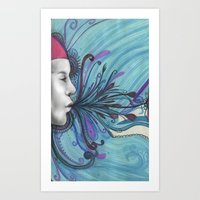 mouth Art Prints featuring Mouth by Mighty Truth