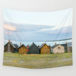 Fishing huts hutte 7 Wall Tapestry