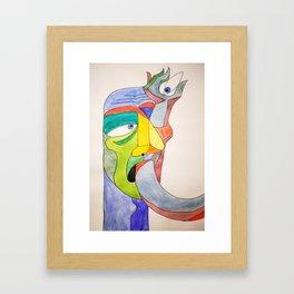 Arm in Eye Framed Art Print