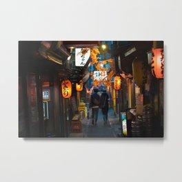 Omoide Yokocho, Shinjuku. Metal Print