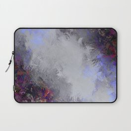 Silver and Burgundy Painted Floral Frame Laptop Sleeve