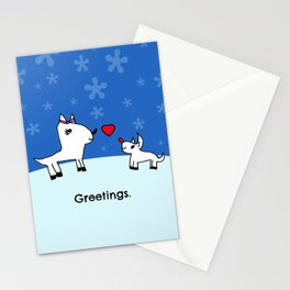 Sweet Deer Holiday Greetings Stationery Cards