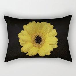 Yellow Gerber Daisy Rectangular Pillow