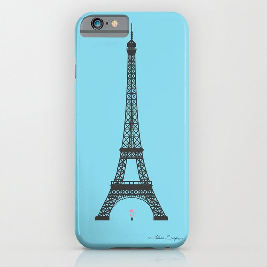 Eiffel Tower - First Kiss iPhone & iPod Case