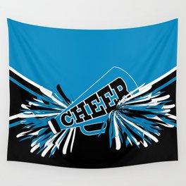 Blue Cheerleader Wall Tapestry
