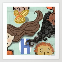 """H"" Art Print"
