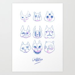 Chatons moches (Ugly Kitties) Art Print