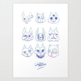 Chatons moches (Ugly Kitties) Art Print