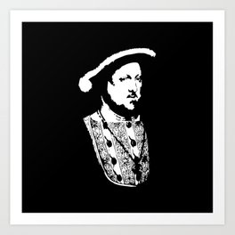 Henry VIII of England (ヘンリー8世) (Henry the eight) King of England 23B  Art Print