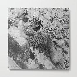 White: Paint Metal Print