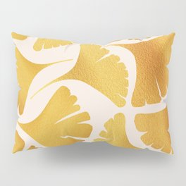 Abstraction_GOLDEN_Ginkgo_Pattern_Minimalism_001 Pillow Sham